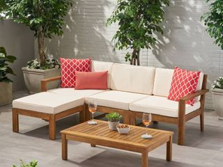 Acacia Wood Outdoor 3 seater Sectional