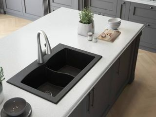 Granite Sink   Grey   Broken