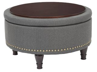 Strawflower Storage Ottoman with Nailheads