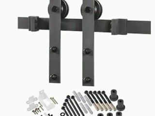 Top Mount Barn Door Kit   matte black