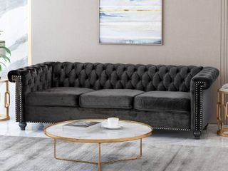 Tufted Chesterfield Velvet 3 Seater Sofa