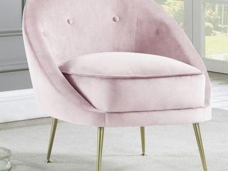 Pink Velvet Modern accent chair
