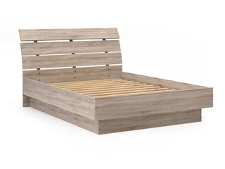 McKellingon Contemporary Wood Grain Platform Bed   Queen