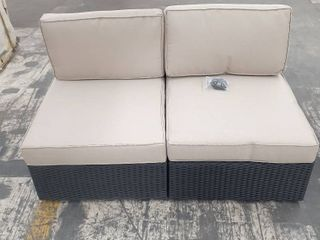 2 Piece Wicker Patio love Seat