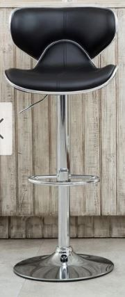 Masaccio leatherette Airlift Adjustable Swivel Barstool   Retail 127 49