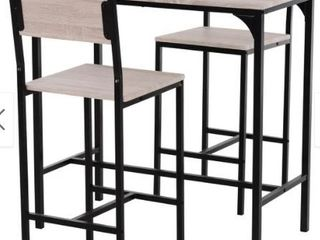 Carbon loft Padrad Industrial Counter Height 3 piece Dining Set  Retail 128 99