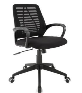 Modway Ardor Mesh Back Office Chair with Arm Rests in Black