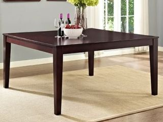 60 inch Square Casual Modern Cappuccino Dining Table  Retail 370 56