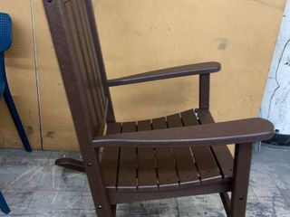 PolyWood Brown Rocking Chair