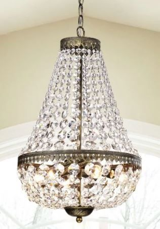 Gracewood Hollow Poradeci Symmetric Crystal Antique Brushed Black Copper Chandelier Retail 139 99