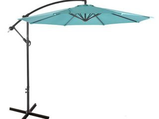 Bally 10 ft  Cantilever Hanging Patio Umbrella  Turquoise