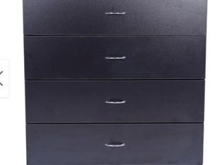 Furniture 4 drawer Wood Storage Chest Black Retail 149 49