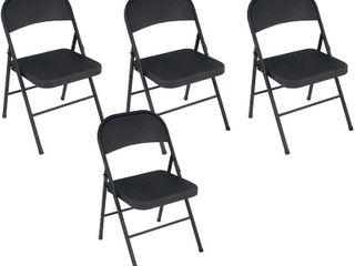 Cosco Black Steel Folding Chairs  4 Pack  RETAIl  57 15