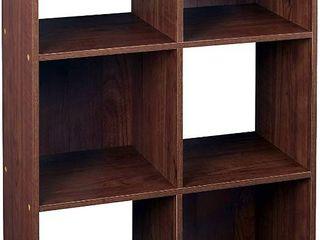 ClosetMaid 4104 Cubeicals Organizer  6 Cube  Dark Cherry  RETAIl  62 66