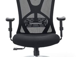 Ticova Ergonomic Office Chair   High Back Desk Chair with Adjustable lumbar Support   Thick Seat Cushion   140 Reclining   Rocking Mesh Computer Chair with Adjustable Headrest   Armrests  RETAIl  269 98