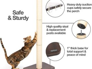 PetFusion Ultimate Cat Window Climbing Perch 45 Tall  Tree Sisal Scratching Post  Suctions to Window   RETAIl  69 95