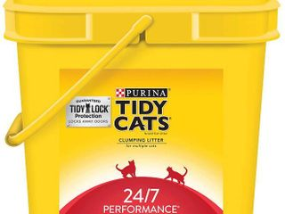 Purina Tidy Cats Clumping Cat litter  24 7 Performance Multi Cat litter   35 lb  Pail  RETAIl  15 99
