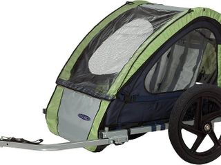 Instep Bike Trailer for Toddlers  Kids  Single Seat  2 In 1 Canopy Carrier  Green Gray  RETAIl  119 79
