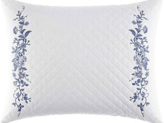 laura Ashley Home   Charlotte Collection   Perfect Decorative Throw Pillow  16x20  China Blue   White  RETAIl  39 99