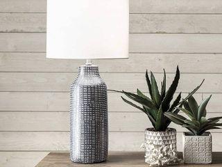 nulOOM Home NPT20AA Herring Table lamp  26  Height  Black   White  RETAIl  100 83