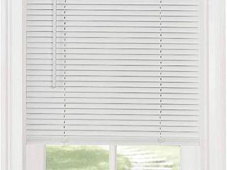Achim Home Furnishings Cordless Morningstar 1  light Filtering Mini Blind  Width 35inch  Pearl White  RETAIl  20 42
