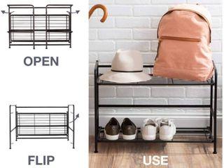 Flipshelf Folding Metal Bookcase Small Space Solution 2 Shelves  RETAIl  40 75