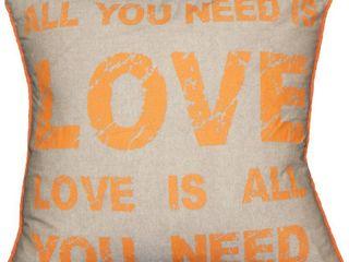 Urban loft by Westex  love is All You Need  Cushion Throw Pillow  18  x 18   RETAIl  35 99