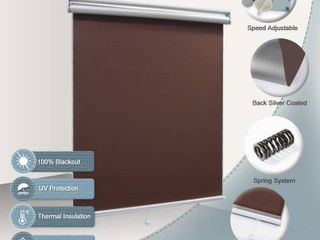 Blackout Shade Room Darkening Blinds Cordless UV Protection Roller Blind Blackout Blinds 48x72  Chocolate  RETAIl  49 99