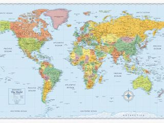 Advantus Detailed Wall Map of the World  RETAIl  19 99