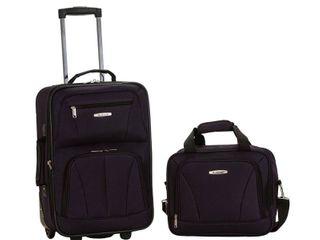 Rockland New Generation 2 Piece lightweight Carry On Softsided luggage Set   Purple  RETAIl  58 49