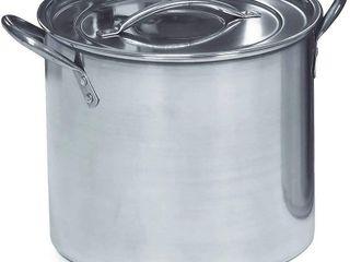 IMUSA USA Stainless Steel Stock Pot 20 Quart  Silver  RETAIl  29 36