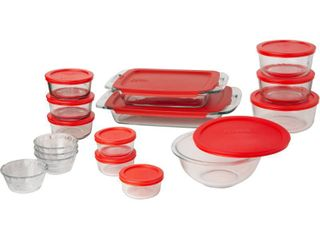 Pyrex Easy Grab 28 Piece Bake and Store Set  RETAIl  62 40
