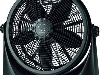 Genesis Adjustable 360 Degree Table Floor Fan  16  Black  RETAIl  50 03