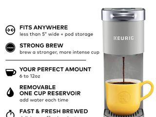 Keurig K Mini Plus Coffee Maker  Single Serve K Cup Pod Coffee Brewer  Comes With 6 to 12 Oz  Brew Size  K Cup Pod Storage  and Travel Mug Friendly  Studio Gray  RETAIl  99 99