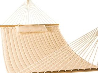 lazy Daze Hammocks 55  Double Quilted Fabric Hammock Swing with Pillow  RETAIl  59 99