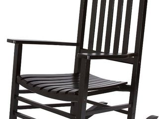 Solid Wood Vermont Porch Rocker  Black  by Shine Company  RETAIl  152 00