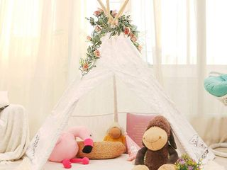 lavievert lace Teepee Children Playhouse  Comes with Water Resistant Bottom Mat  RETAIl  72 44