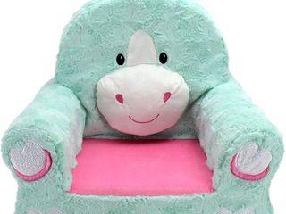 Animal Adventure   Sweet Seats   Teal Unicorn Children s Plush Chair  RETAIl  39 95