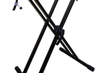 RockJam Xfinity Heavy Duty  Double X  Pre Assembled  Infinitely Adjustable Piano Keyboard Stand with locking Straps  RETAIl  34 53