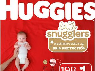 Huggies little Snugglers Baby Diapers  Size 1  198 Ct  RETAIl  46 70