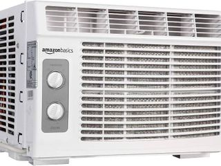 AmazonBasics Window Mounted Air Conditioner with Mechanical Control   Cools 150 Square Feet  5000 BTU  AC Unit  RETAIl  172 00