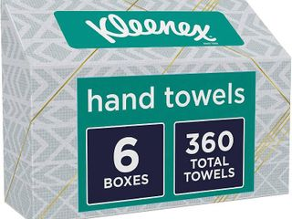Kleenex Expressions Hand Towels  Single Use Disposable Paper Towels  6 Boxes  60 Towels Per Box  360 Towels Total   RETAIl  19 71