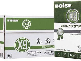 BOISE X 9 Multi Use Copy Paper  8 5  x 11  letter  92 Bright White  20 lb  10 Ream Carton  5 000 Sheets   RETAIl  34 99
