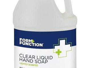 Form   Function Dye Free Clear liquid Hand Soap  1 gal  RETAIl  11 00