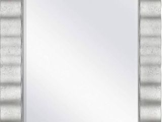 MCS Wavy Wall Mirror  30x36 Inch Overall Size  Silver  RETAIl  135 67