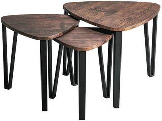 Industrial Nesting Tables   living Room Coffee Table Set of 3 Stacking End Side Tables Nightstands  RETAIl  73 88
