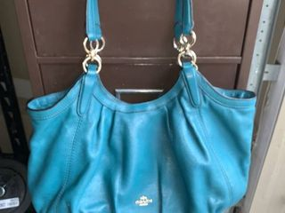 Authentic Teal Coach Handbag location A1