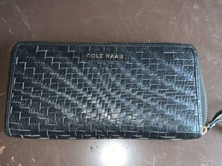 Cole Haan Weaved leather Wallet location B2