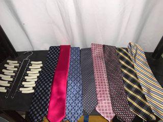 lot of 8 Neckties With Tie Rack location B1