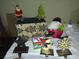lot Of Various Christmas Home Decor In A Nice Box